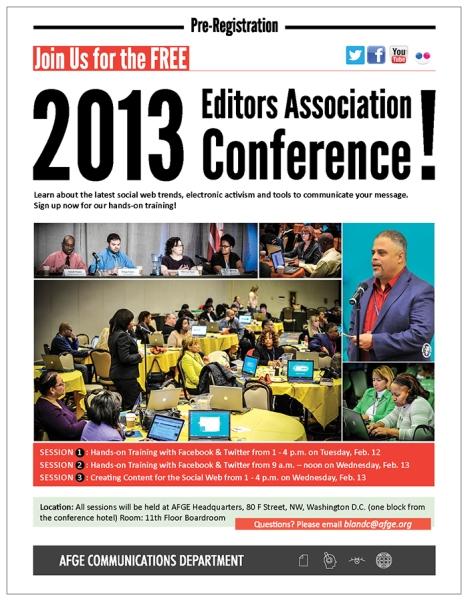 Editors Association flyer